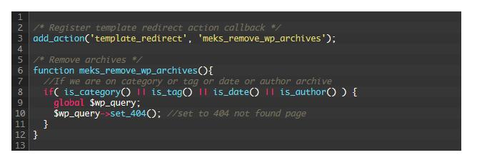Wordpress Kategorie Seiten deaktivieren